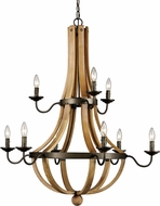 Trans Globe 70609 Woodland Weathered Bronze Chandelier Lighting