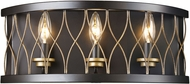 Trans Globe 70693-ROB Tahoe Contemporary Rubbed Oil Bronze 3-Light Bathroom Wall Sconce