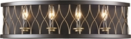 Trans Globe 70694-ROB Tahoe Modern Rubbed Oil Bronze 4-Light Bath Wall Sconce