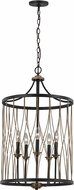 Trans Globe 70697-ROB Tahoe Contemporary Rubbed Oil Bronze Drum Drop Ceiling Light Fixture