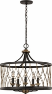 Trans Globe 70698-ROB Tahoe Modern Rubbed Oil Bronze Drum Drop Lighting Fixture