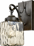 Trans Globe 70761-ABZ Moore Contemporary Antique Bronze Wall Sconce Light