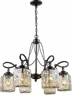 Trans Globe 70766-ABZ Moore Modern Antique Bronze 25  Chandelier Lamp
