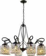 Trans Globe 70768-ABZ Moore Contemporary Antique Bronze 31  Chandelier Light