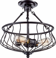 Trans Globe 70783-ROB Congress Modern Rubbed Oil Bronze Ceiling Light