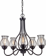 Trans Globe 70786-ROB Congress Contemporary Rubbed Oil Bronze Ceiling Chandelier
