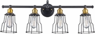 Trans Globe 70814-ROB Constitution Contemporary Rubbed Oil Bronze 4-Light Bathroom Lighting
