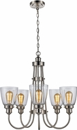 Trans Globe 70837-BN Jennifer Contemporary Brushed Nickel Chandelier Light