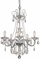 Trans Globe JH-5-PC Niagara Polished Chrome mini Lighting Chandelier