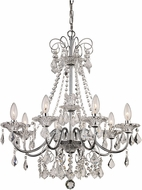 Trans Globe JH-8-PC Niagara Polished Chrome Chandelier Lamp