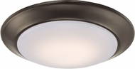 Trans Globe LED-30016-ROB Vanowen Modern Rubbed Oil Bronze LED Flush Lighting