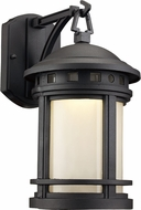 Trans Globe LED-40370-BK Boardwalk Black LED Outdoor 7  Wall Sconce Lighting