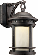 Trans Globe LED-40370-RT Boardwalk Rust LED Exterior 7  Wall Light Fixture