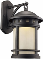 Trans Globe LED-40371-BK Boardwalk Black LED Outdoor 9  Lighting Wall Sconce