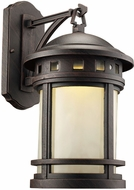 Trans Globe LED-40371-RT Boardwalk Rust LED Exterior 9  Wall Lighting Sconce