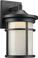 Trans Globe LED-40380-BK Avalon Black LED Outdoor 7  Wall Light Sconce