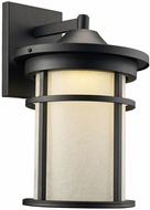 Trans Globe LED-40381-BK Avalon Black LED Outdoor 9  Wall Light Sconce
