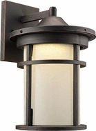 Trans Globe LED-40381-RT Avalon Rust LED Exterior 9  Wall Sconce Light