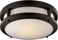 Trans Globe LED-40551-BK Borromeo Contemporary Black LED Ceiling Lighting Fixture