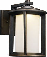 Trans Globe LED-40820-ROB Brava Contemporary Rubbed Oil Bronze LED Outdoor Wall Lighting Fixture