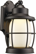 Trans Globe LED-40901-ROB Newport Contemporary Rubbed Oil Bronze LED Outdoor Wall Sconce Light