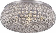 Trans Globe MDN-1220 Polished Chrome Halogen Flush Ceiling Light Fixture