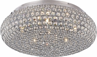 Trans Globe MDN-1221 Polished Chrome Halogen Flush Mount Ceiling Light Fixture