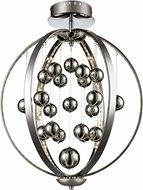 Trans Globe MDN-1263 Mercury Modern Polished Chrome LED Flush Mount Lighting Fixture