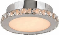 Trans Globe MDN-1329 Luxor Polished Chrome LED Flush Mount Ceiling Light Fixture