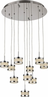 Trans Globe MDN-1383-10 Devonshire Polished Chrome LED Multi Lighting Pendant