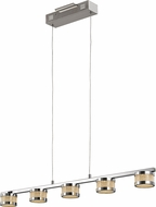 Trans Globe MDN-1383-5 Devonshire Polished Chrome LED Kitchen Island Light Fixture
