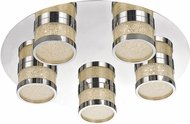 Trans Globe MDN-1384 Devonshire Polished Chrome LED Flush Lighting
