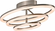 Trans Globe MDN-1404 Optic II Modern Brushed Nickel LED Flush Mount Lighting