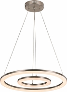 Trans Globe MDN-1405 Optic II Contemporary Brushed Nickel LED Pendant Hanging Light