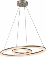 Trans Globe MDN-1406 Optic II Modern Brushed Nickel LED Hanging Light Fixture