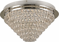 Trans Globe MDN-1414 Bel Air Polished Chrome LED 14.5  Overhead Lighting