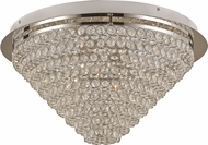 Trans Globe MDN-1415 Bel Air Polished Chrome LED 18.5  Flush Mount Light Fixture