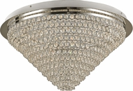Trans Globe MDN-1416 Bel Air Polished Chrome LED 22.5  Flush Mount Lighting Fixture
