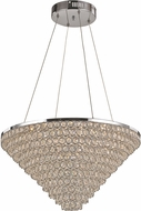 Trans Globe MDN-1417 Bel Air Polished Chrome LED Drop Ceiling Light Fixture