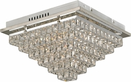 Trans Globe MDN-1418 Venue Polished Chrome LED 12  Flush Ceiling Light Fixture