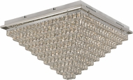 Trans Globe MDN-1419 Venue Polished Chrome LED 18  Flush Mount Ceiling Light Fixture