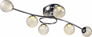 Trans Globe MDN-1432 Moreau Contemporary Polished Chrome LED Overhead Lighting Fixture