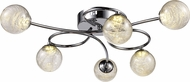 Trans Globe MDN-1433 Moreau Modern Polished Chrome LED Ceiling Lighting