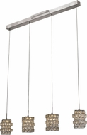 Trans Globe PND-1051 Sorrento Polished Chrome LED Multi Pendant Light Fixture