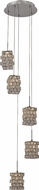 Trans Globe PND-1053 Sorrento Polished Chrome LED Multi Hanging Pendant Lighting