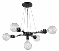 Trans Globe PND-1095 Galveston Modern Dark Bronze Lighting Chandelier