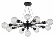 Trans Globe PND-1096 Galveston Contemporary Dark Bronze Chandelier Lamp