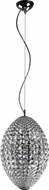 Trans Globe PND-975 Crystal Jewels Polished Chrome Halogen Mini Pendant Light