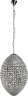 Trans Globe PND-977 Crystal Jewels Polished Chrome Halogen Pendant Lamp