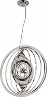 Trans Globe PND-981 Tangled Contemporary Polished Chrome Pendant Lighting Fixture